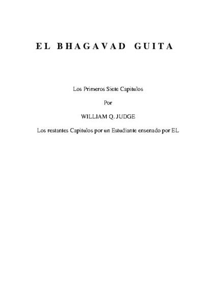 COMENTARIOS SOBRE EL BHAGAVAD GUITA