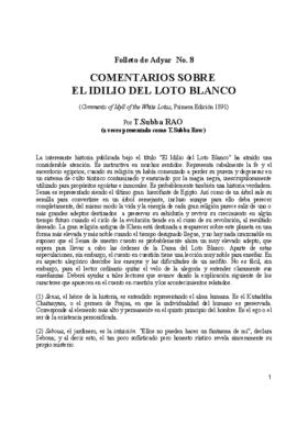 COMENTARIO IDILIO BLANCO