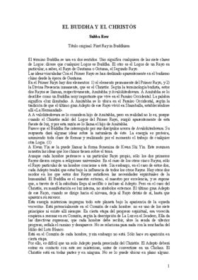 EL BUDA Y EL CRISTO