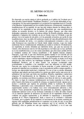 EL MUNDO OCULTO