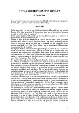 NOTAS SOBRE FILOSOFIA OCULTA