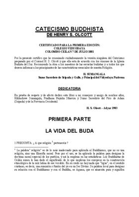 CATECISMO BUDISTA